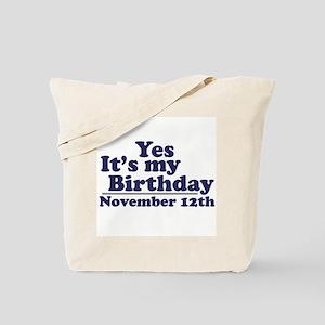 November 12th Birthday Tote Bag