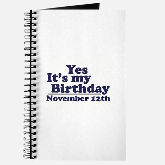 November 12th Birthday Journal