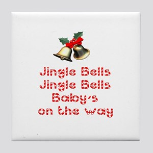 Christmas Baby Tile Coaster