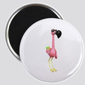 Funny Tropical Flamingo Magnet