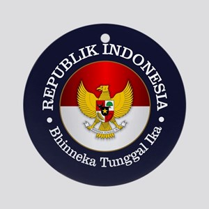Indonesia (rd) Round Ornament