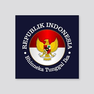 Indonesia (rd) Sticker