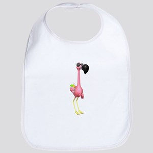 Funny Tropical Flamingo Bib