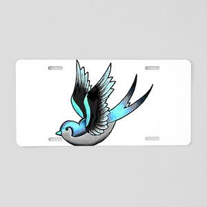 Vintage Old School Tattoo Bird Aluminum License Pl