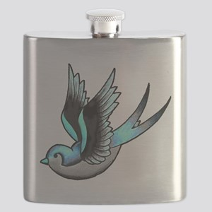 Vintage Old School Tattoo Bird Flask