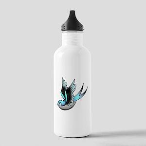 Vintage Old School Tattoo Bird Water Bottle