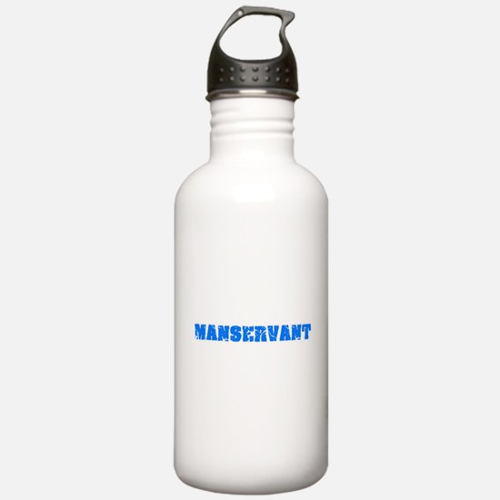 Manservant Blue Bold D Water Bottle