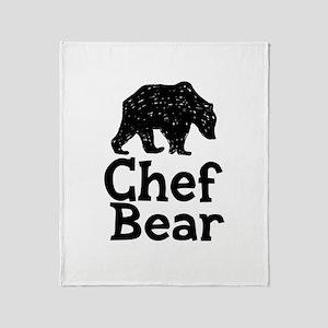 Chef Bear Throw Blanket