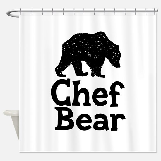 Chef Bear Shower Curtain