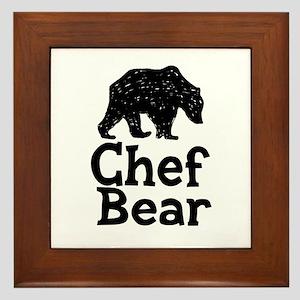 Chef Bear Framed Tile