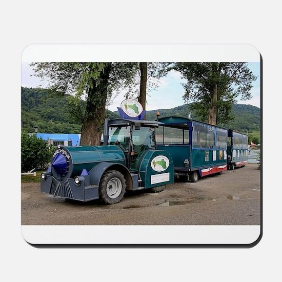 Tourist Shuttle train, Durnstein, Austri Mousepad