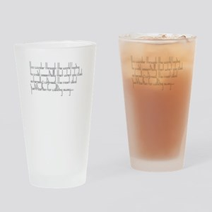 Sapiosexual Subliminal Messaging Drinking Glass