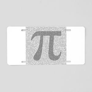 pi Aluminum License Plate
