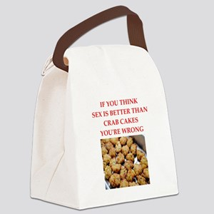crab cakes Canvas Lunch Bag