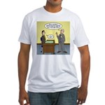 Clean Desk Policy Fitted T-Shirt