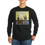 Clean Desk Policy Long Sleeve Dark T-Shirt