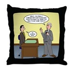 Clean Desk Policy Throw Pillow