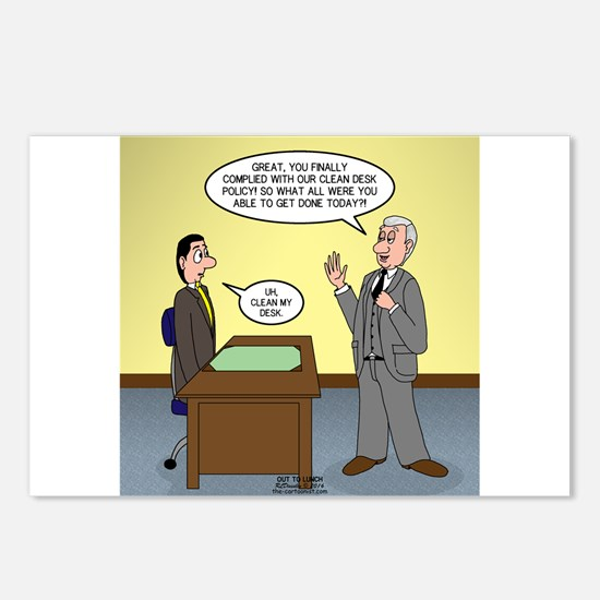 Clean Desk Policy Postcards (Package of 8)