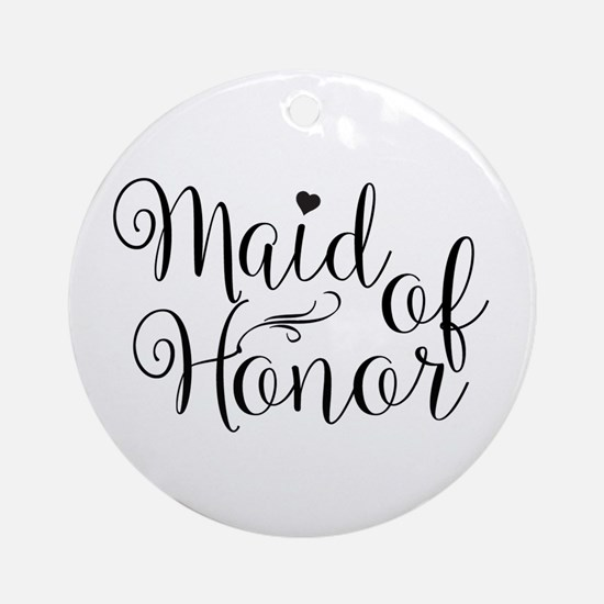 Unique Bridal Round Ornament