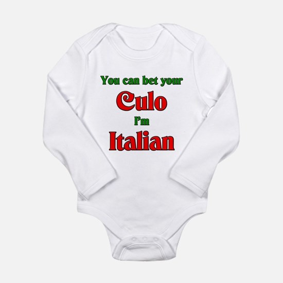 Unique Im not yelling im italian Long Sleeve Infant Bodysuit
