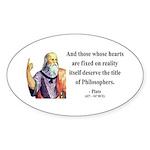 Plato 8 Oval Sticker