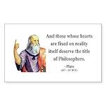 Plato 8 Rectangle Sticker