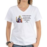 Plato 8 Women's V-Neck T-Shirt