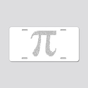pi in numbers Aluminum License Plate