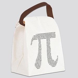 pi in numbers Canvas Lunch Bag