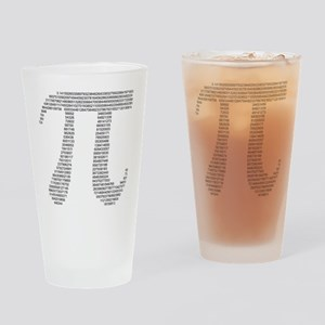 pi in numbers Drinking Glass