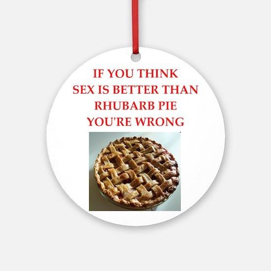 rhubarb pie Round Ornament