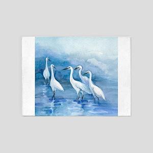 We 5 Egrets 5'x7'Area Rug