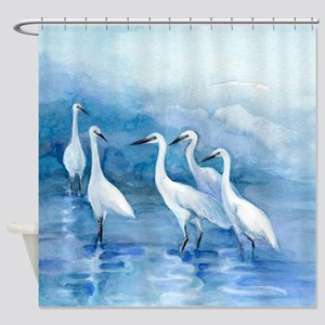 We 5 Egrets Shower Curtain