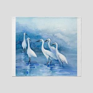 We 5 Egrets Throw Blanket
