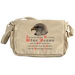 Biker Blue Jeans Eagle Prayer Messenger Bag