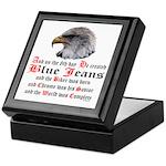 Biker Blue Jeans Eagle Prayer Keepsake Box