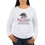 Biker Blue Jeans Eagle Women's Long Sleeve T-Shirt