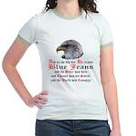 Biker Blue Jeans Eagle Prayer Jr. Ringer T-Shirt