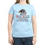 Biker Blue Jeans Eagle Praye Women's Light T-Shirt