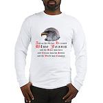 Biker Blue Jeans Eagle Prayer Long Sleeve T-Shirt