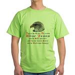 Biker Blue Jeans Eagle Prayer Green T-Shirt