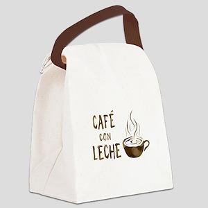 cafe con leche Canvas Lunch Bag