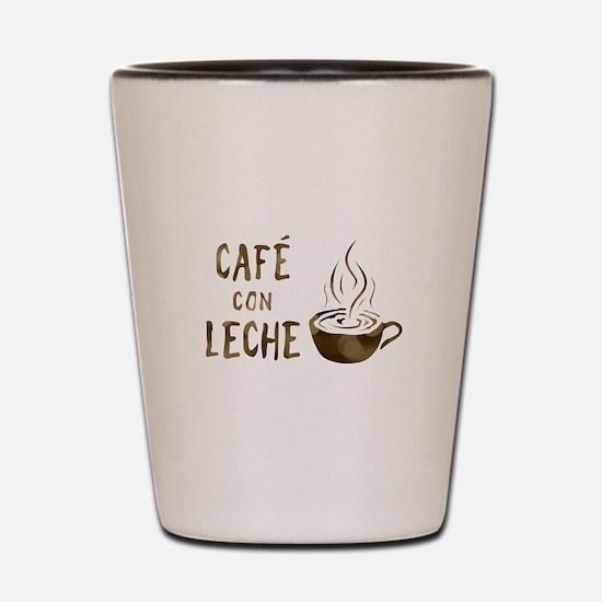 cafe con leche Shot Glass