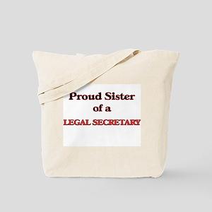 Proud Sister of a Legal Secretary Tote Bag