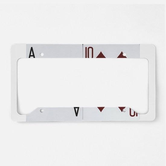Blackjack License Plate Holder