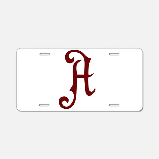 A is for... Aluminum License Plate