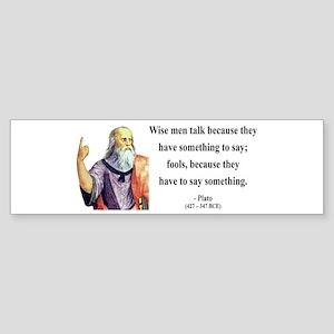 Plato 9 Bumper Sticker