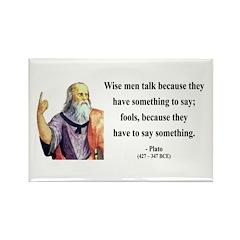 Plato 9 Rectangle Magnet