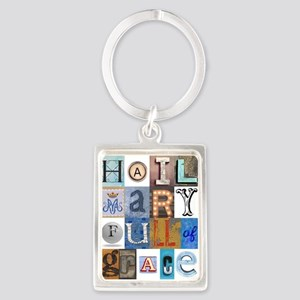 Hail Mary Full of Grace Letters Keychains