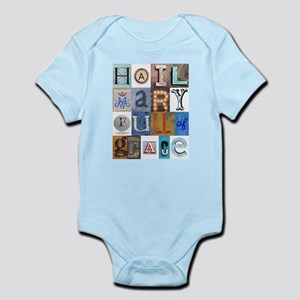 Hail Mary Full of Grace Letters Body Suit